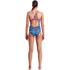 Funkita Diamond Back One Piece Baddräkt Dam röd/blå